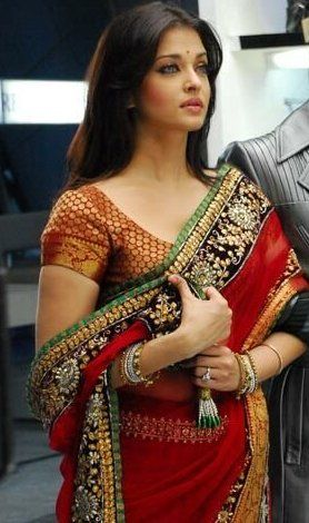 Aishwarya Rai in red bridal saree