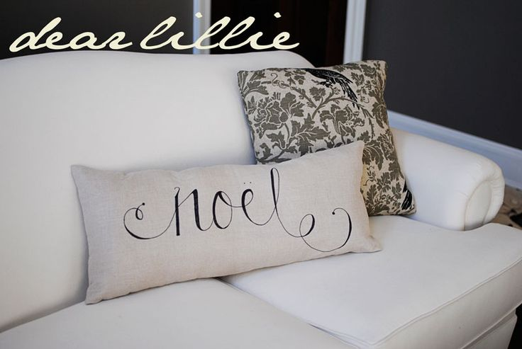 Dear Lillie: Joyeux Noel Sharpie Pillows, More Christmas Decorating and SNOW!