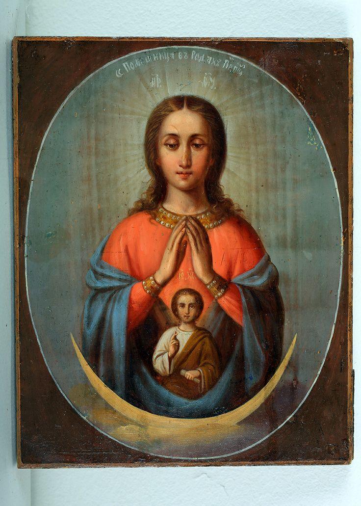 Икона Богоматери «Помощница в родах», XIXв., дерево, темпера #rkpm
