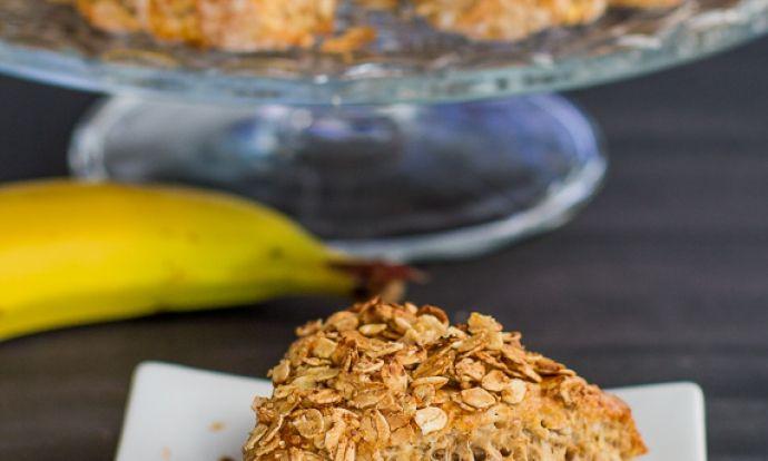 Banánové trojhránky s ovesnými vločkami