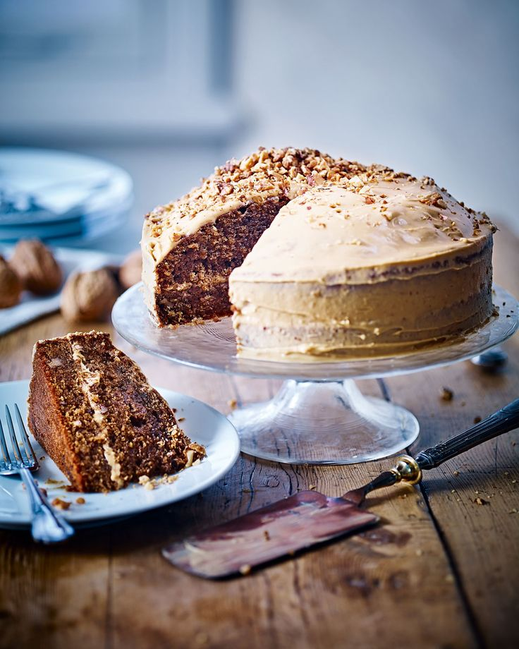You can't go wrong with a classic coffee and walnut cake – perfect for afternoon tea or a birthday cake for a caffeine lover.