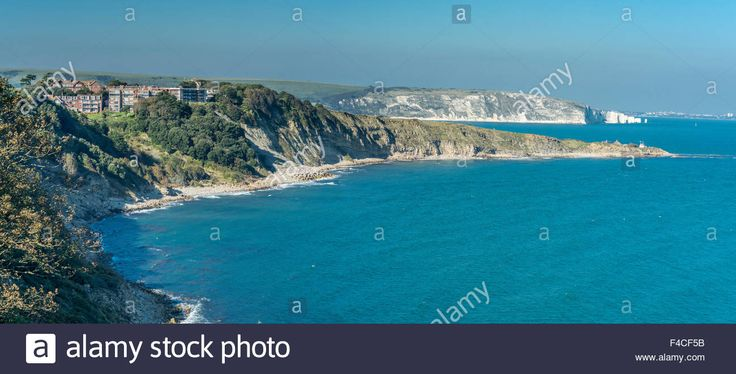Download this stock image: A view of coastline at Durlston Head, Swanage, Dorset, UK. Taken on 2nd October 2015. - F4CF5B from Alamy's library of millions of high resolution stock photos, illustrations and vectors.