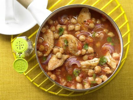 Kichererbsen-Tomaten-Ragout