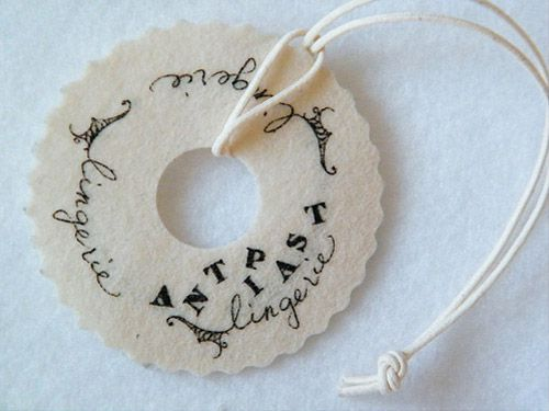50 creative hang tag designs.  (some of these are just ridiculous, but there are some good ideas to spark your imagination)