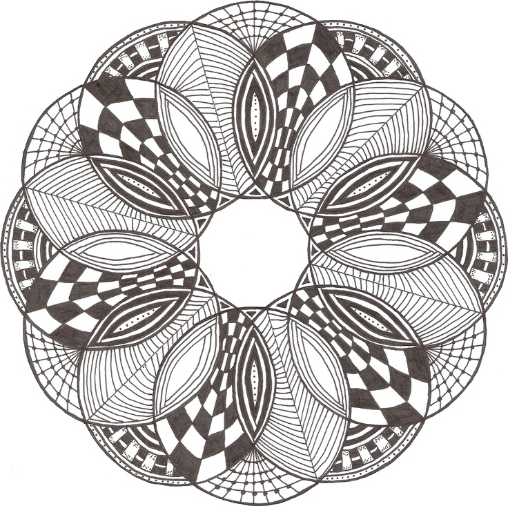 Zentangle made by Mariska den Boer 03