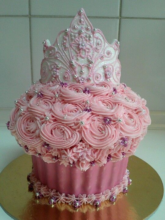 Princess Tiara Giant Cupcake Cake Decoration Pinterest