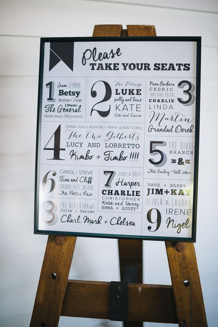 Typography Table Plan | Outdoor coastal wedding at Tunnels Beaches in Devon | Peach Flowers | image by Alex Miller Photography | http://www.rockmywedding.co.uk/jemma-sam/