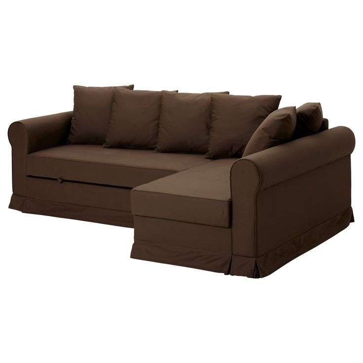 Leather Sofas MOHEDA Corner sofa bed IKEA brown cotton makes double bed