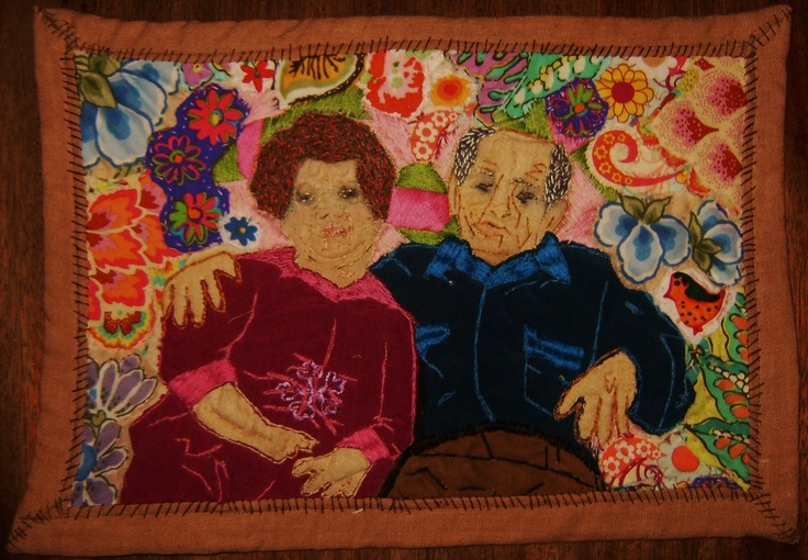 nan and pop freake,                                   quilting, embroidery                                               cara winsor hehir