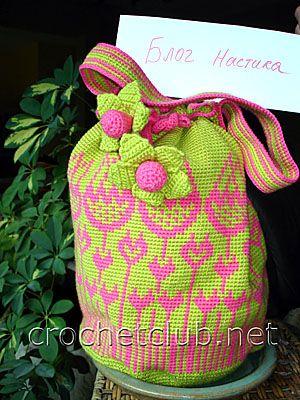 Жаккардовая сумка «Тюльпан»