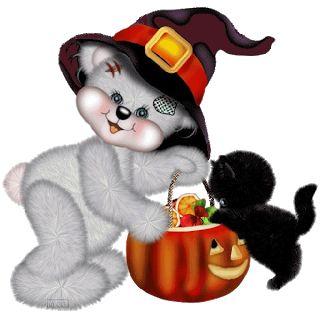 Teddy Bear Halloween - Halloween Cartoon Clip Art