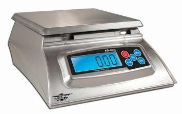 Kitchen Scale My Weigh KD-8000 Digital Bakers Math Deli Food Kilograms Pounds Ounces Grams, Silver