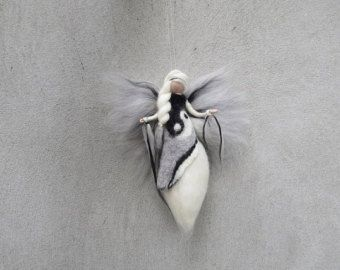 Ying Yang - naald vilten wol engel