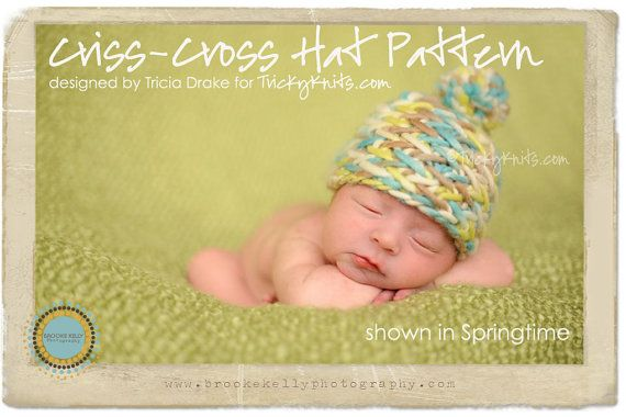 Here's the pattern. $4. I might HAVE to...: Hats Patterns, Knits Patterns, Boys Photos, Baby Girl, Hats Photos, Baby Photography, Crisscross Beanie, Baby Photos, Criss Cross