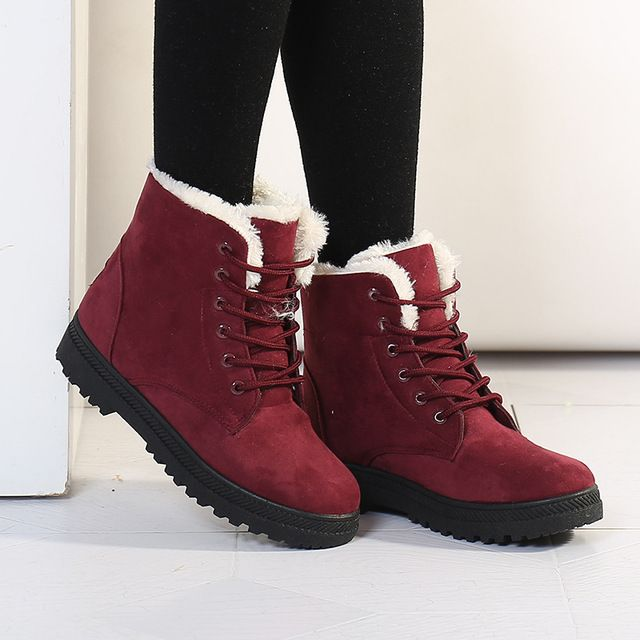 Offer Today $13.25, Buy Fashion warm snow boots 2017 heels winter boots new arrival women ankle boots women shoes