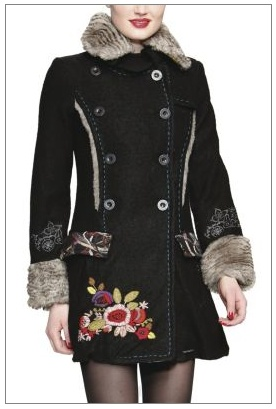 My new winter staple - can a coat be anymore me?!?! Desigual designs