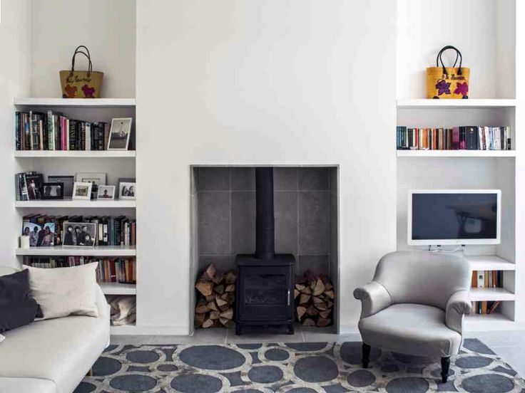 Image of: Wood Stove Paint Fireplace