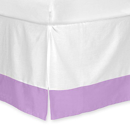 """CARTER'S Solid Dust Ruffle, Color LILAC DREAM - Purple - Crib - Baby - Nursery - Bed Skirt - Cotton - 51.5"""" x 27.5"""" - 14"""" Drop - Fits Standard Crib Mattress - Carters - Style #24511CL. AVAILABLE WHILE SUPPLIES LAST!  https://www.amazon.com/dp/B015KFF8S8/ref=cm_sw_r_pi_dp_x_Vo3HybQMK1NNH"""