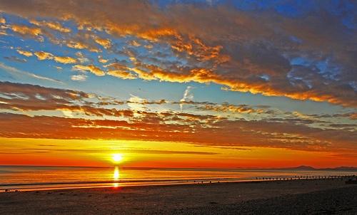 Sunset at Barmouth Beach, Wales GB