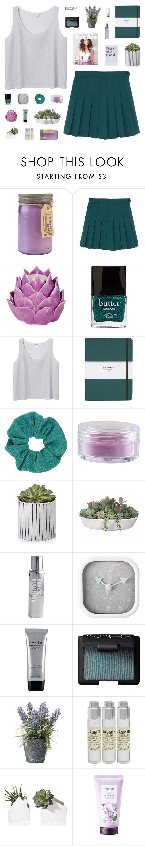 """""""~ O1O616"""" by khieug ❤ liked on Polyvore featuring Paddywax, Zara Home, Butter London, Monki, Shinola, Topshop, Forever 21, VesseL, Paul's Boutique and Karlsson"""