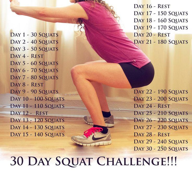 30 day squat challenge  #onesquatshop  Come visit us! www.onesquatshop.com