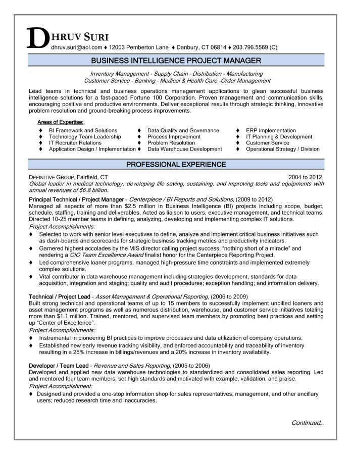 project manager resume sample ready for you samples gif