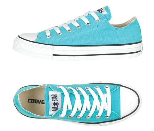 turquoise converse low tops