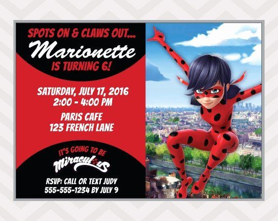This miraculous ladybug invitation is perfect for. Paper Party Supplies Lady Bug Customized Stickers Polka Dot Ladybug Thank You Card Ladybug Birthday Invitation Party Package Birthday Party Printables Invitations Announcements