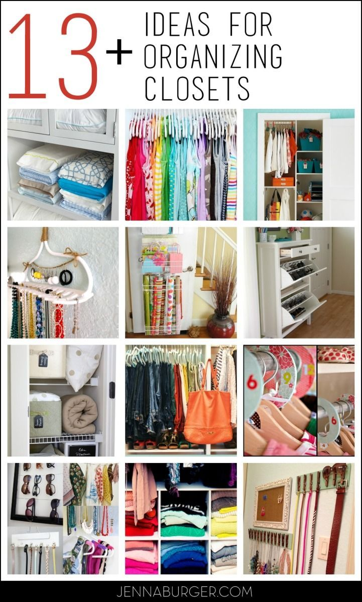13+ Organizational Ideas for CLOSETS: Tips + Tricks to help organize every all types of closets! organization ideas #organization #organized