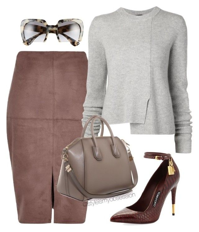 Untitled #1445 by dnicoleg on Polyvore featuring polyvore fashion style Proenza Schouler River Island Tom Ford Givenchy Miu Miu clothing