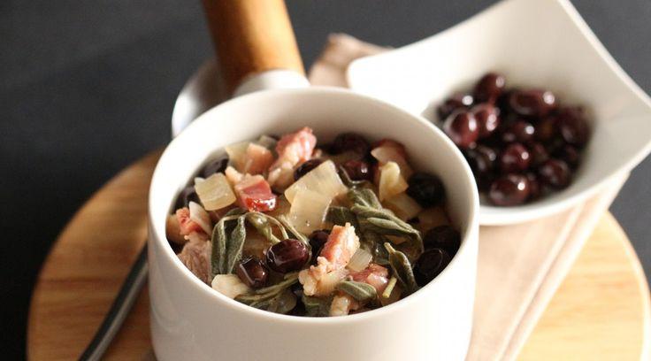 Sauté d'Agneau aux Olives & à la Sauge