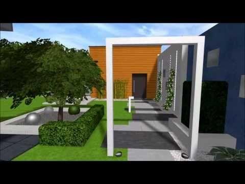 ▶ Projekt ogrodu nowoczesnego w Rudzie Śląskiej - YouTube