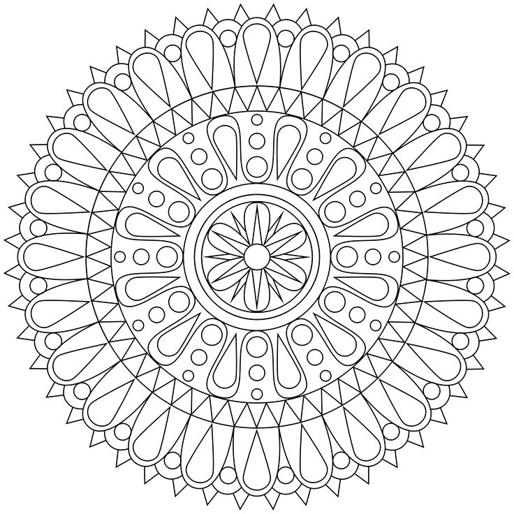 Mandala Coloring Page Sheet Free