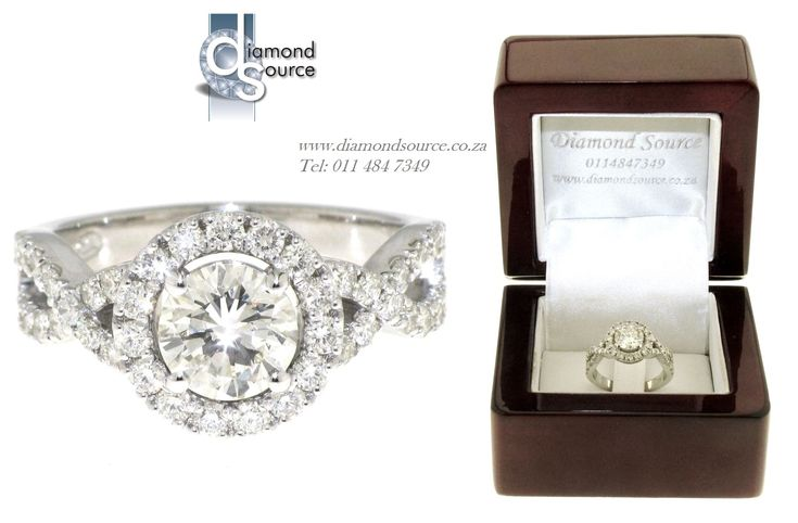 SPARKLY HALO DESIGN -  Another one of our most recent commissions featuring a halo engagement ring design. This ring we crafted from 18ct. White Gold set with a 0.90ct. Round brilliant-cut centre diamond. Please email or call us with any queries. FREE QUOTATIONS on any jewellery design you require. E: info@diamondsource.co.za W: www.diamondsource.co.za T: 011 484 7349