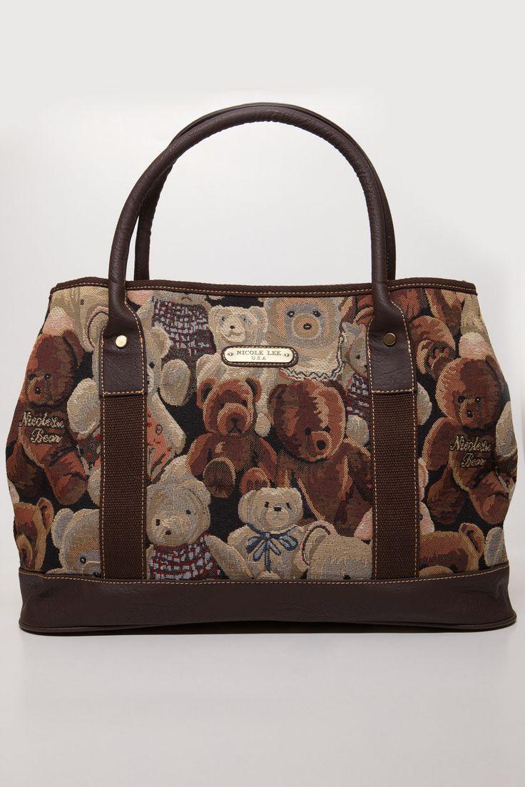 Nicole Lee Brown Teddy Handbag