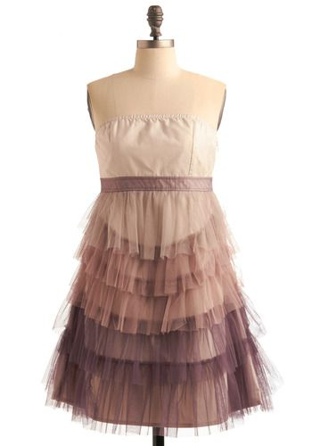 Tiered party dress. $100 http://rstyle.me/ey7eescuee: Fashion, Color Schemes, Duchess Dresses, Shadow, Goblet Of Fire, Ruffles Dresses, Tulle Dresses, The Dresses, Fun Bridesmaid Dresses