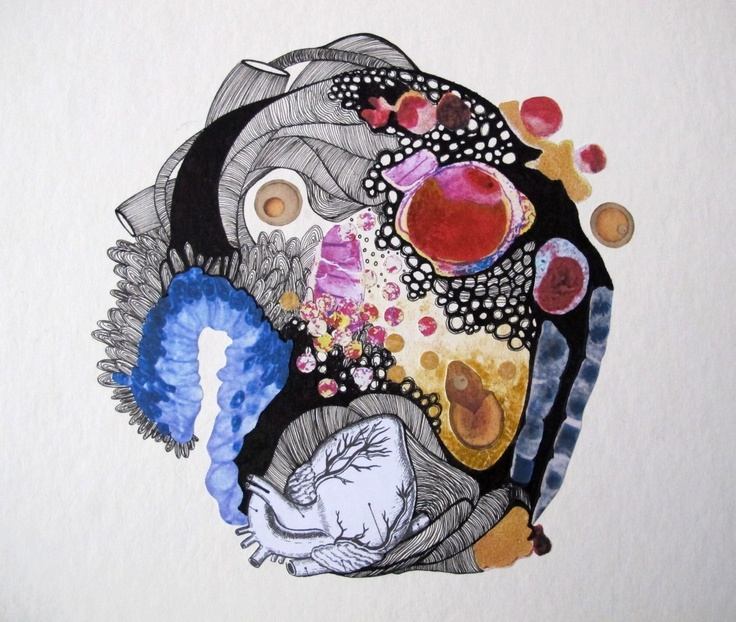 """Drawing for the Creative writing exercise based on Walt Whitman's """" Song of my Self"""". Collage. 2012."""