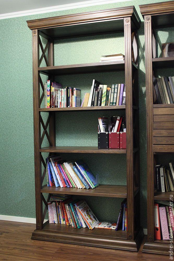 Купить Стеллаж книжный (001) - стеллаж, книжный шкаф, мебель ручной работы, мебель из дерева