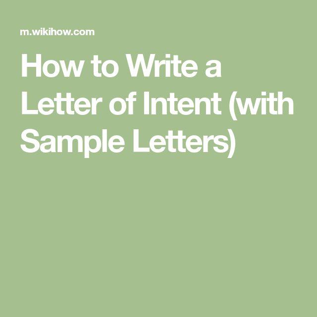 Best 25+ Letter of intent ideas on Pinterest Graduate school - letter of intent templates