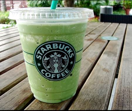 Peppermint Pow Frappuccino  Here's the recipe: Nonfat Vanilla Bean Frappuccino Add peppermint syrup (1 pump for a tall, 2 for grande, 3 for venti) 2 scoops of matcha gr...