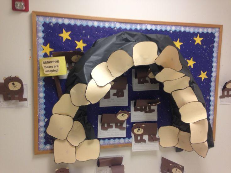 Kindergarten Classroom Decor Themes ~ Bear cave bulletin board bears pinterest caves