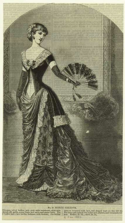 1883 evening gown