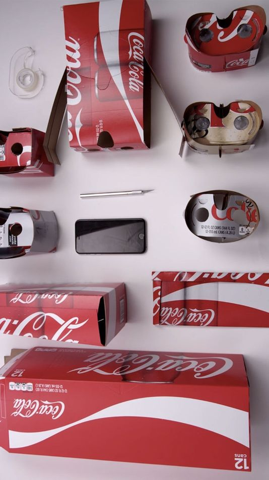 Coca-Cola is entering into the virtual reality game with cardboard VR goggles