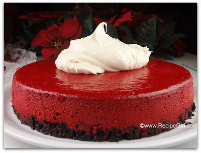 Red Velvet Cheesecake with oreo cookie crust