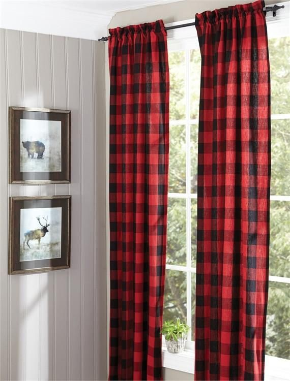 "Amazing Buffalo check lined panel pair 72""x 84"" by Park Designs Top Search - Unique Nursery Curtains Contemporary"