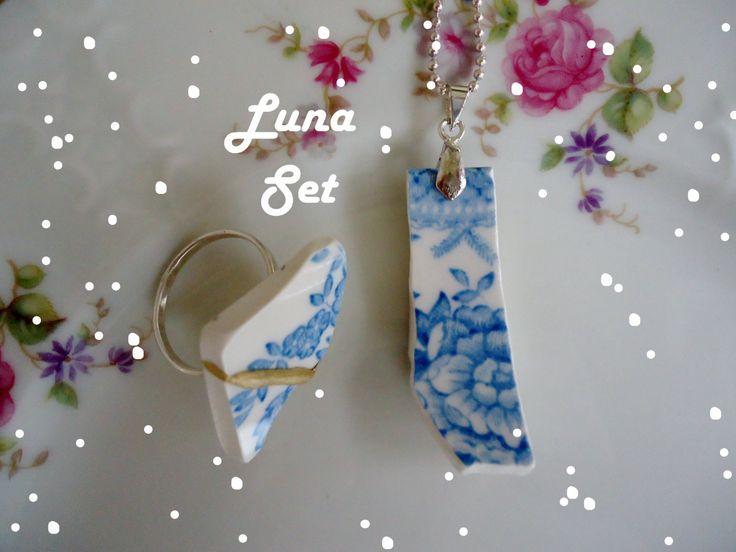 Sieraden Cadeau Set,  Ring - Ketting, Cocktail Ring - Statement Ketting, Luna Lot - Luna Hope by BregjesDesign on Etsy