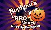 Nephews Ghostly Pumpkin BBQ Sauce. Need to try it.. WWW.Nephewsbbq.com #pumpkin #pumpkinspice #bbq #bbqsauce