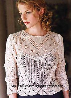Ажурная блузка в викторианском стиле / Viktorian Lace Blouse.