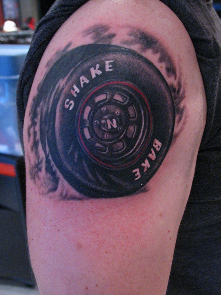 Racing Tattoo Tire with Shake N Bake