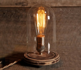 Original Bell Jar Table Lamp....add some spunk to your lighting!